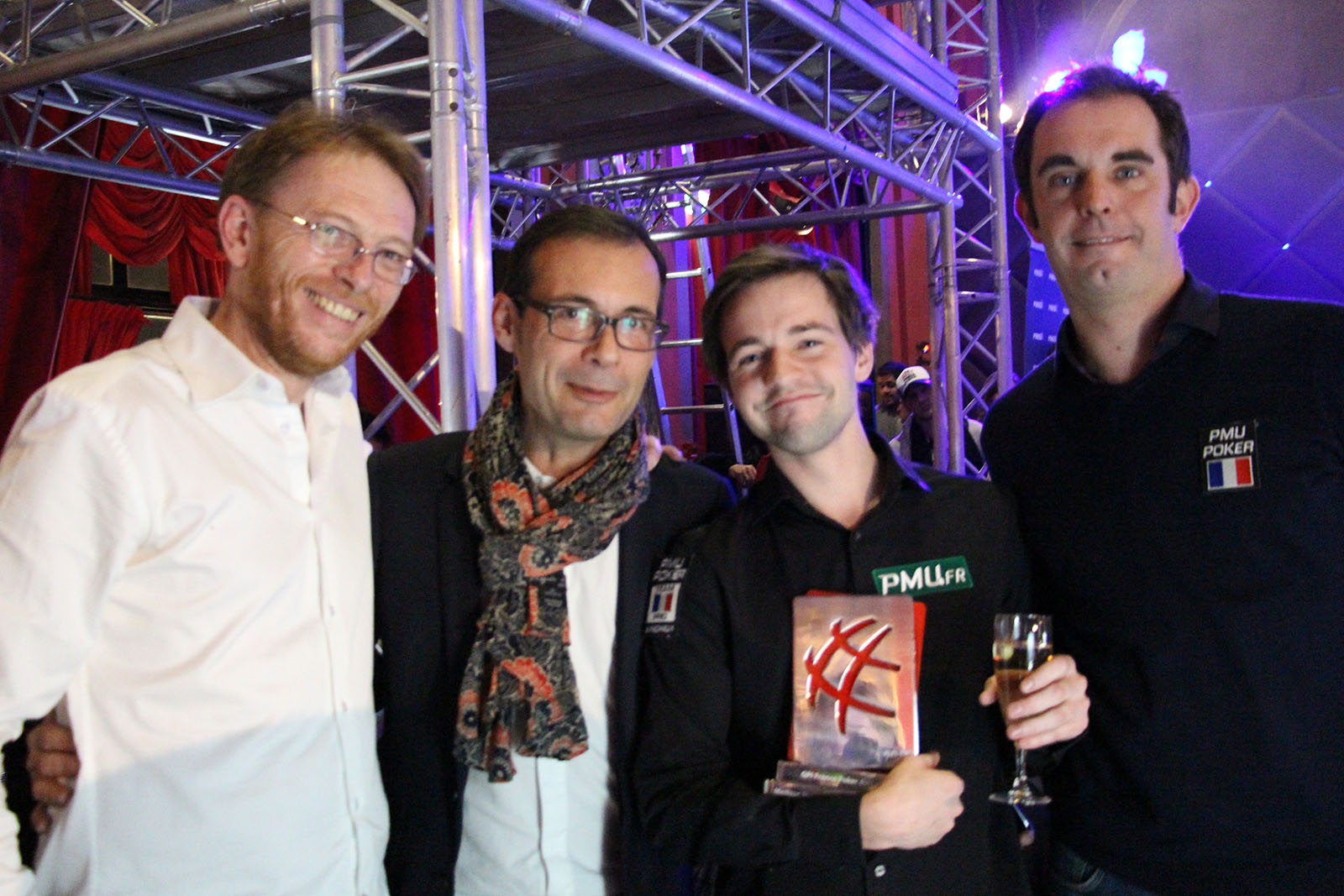 Erwann et le Staff PMU Poker !