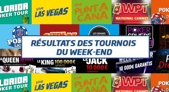 Résultats des tournois online du dimanche PMU Poker #38
