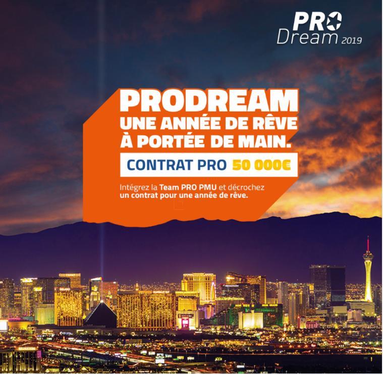 Pro Dream : Intégrez la Team Pro PMU Poker avec un contrat de 50 000 € !