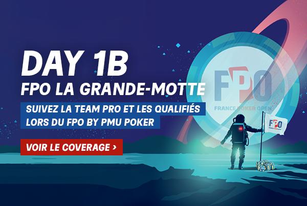 FPO La Grande Motte : L'intégralité du coverage Day 1B ici !