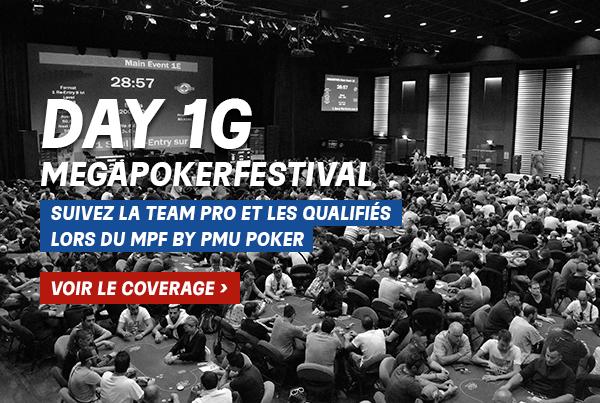 MegaPoker Festival : Suivez l'intégralité du coverage du Day 1G