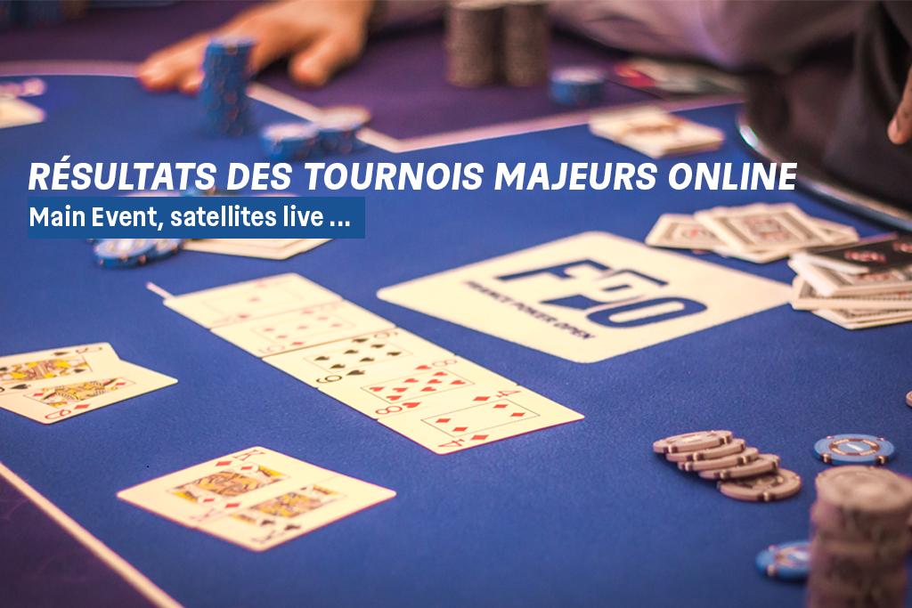 Résultats des tournois online du dimanche PMU Poker-22/03