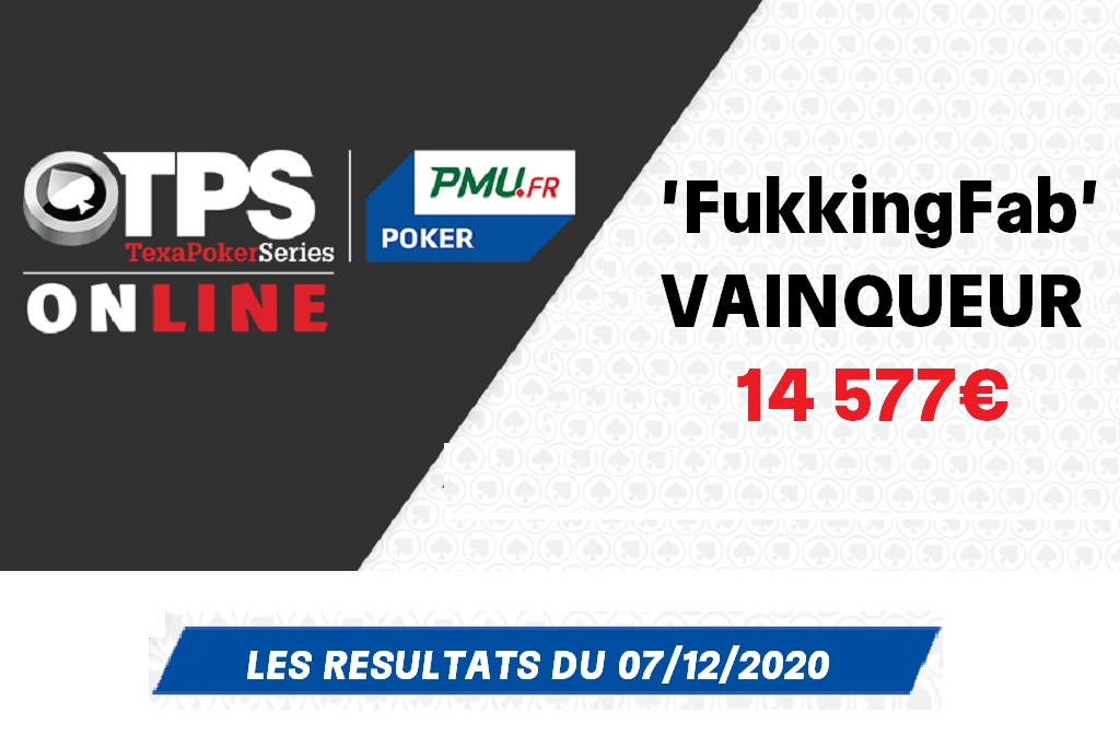 Le TPS 250 Online et les 14 577€ pour 'FukkingFab' !