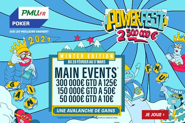 PowerFest Winter Edition: RDV du 28 février au 17 mars avec 2 500 000 € Garantis !