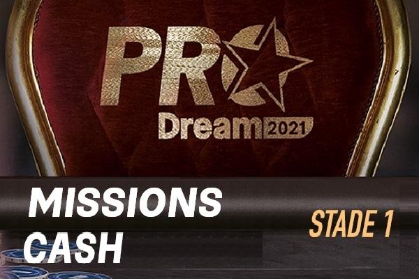 ProDream-Step1-Mission Cash Game: 16 joueurs passent au Step 2