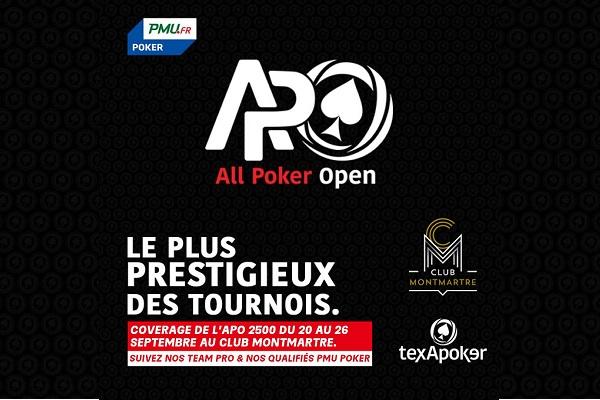All Poker Open: APO 2500, HR, tous les résultats